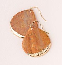 Scout Teardrop Earring - Petrified Wood