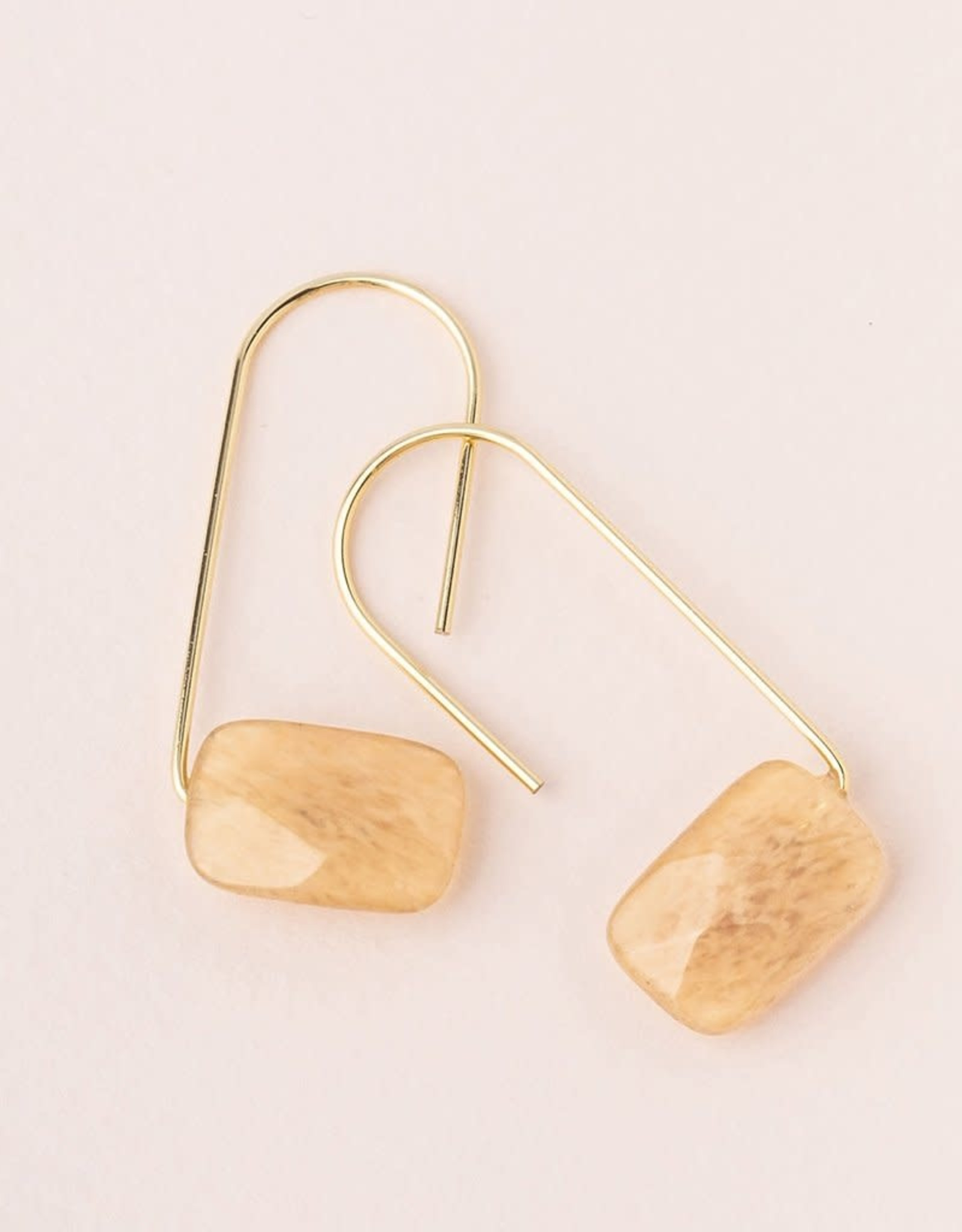 Scout Floating Stone Earrings - Citrine/Gold