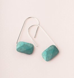 Scout Floating Stone Earring - Turquoise/Silver