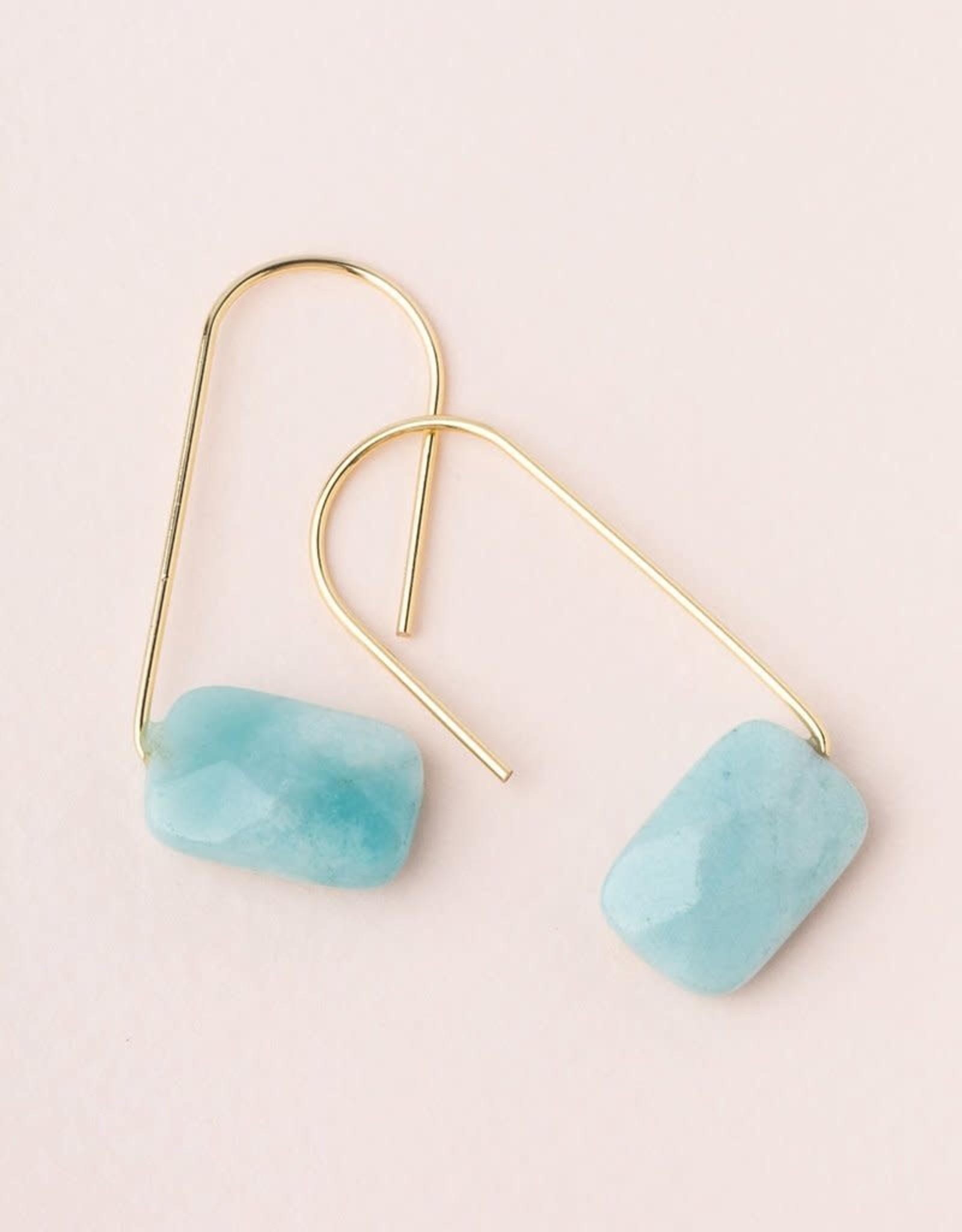 Scout Floating Stone Earring - Amazonite/Gold