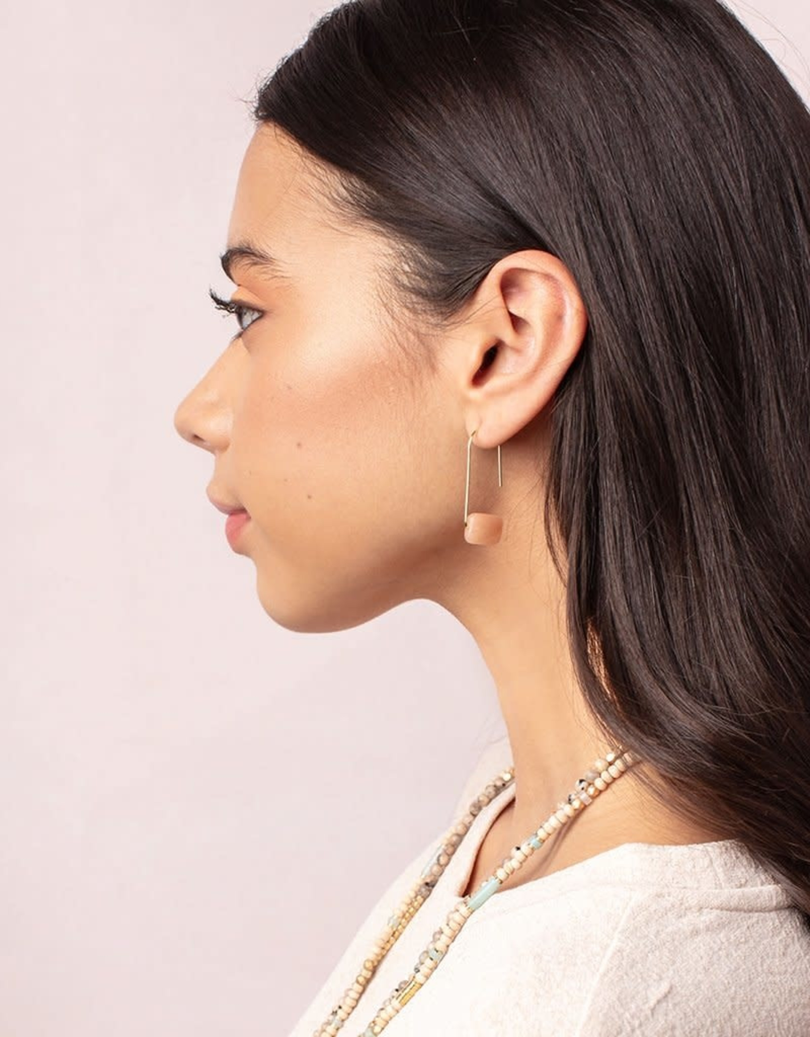 Scout Floating Stone Earring - Howlite/Silver