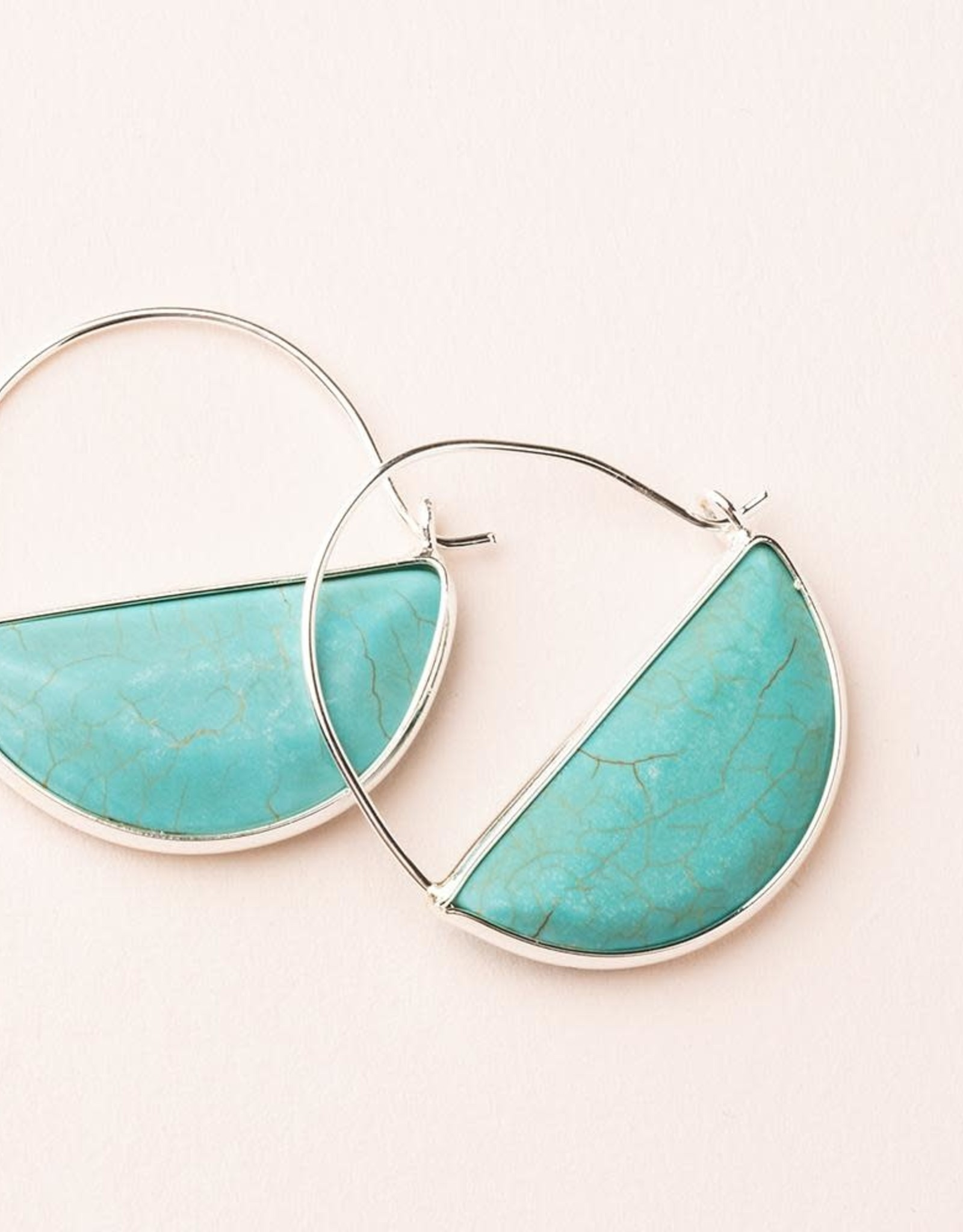 Scout Prism Hoops - Turquoise/Silver