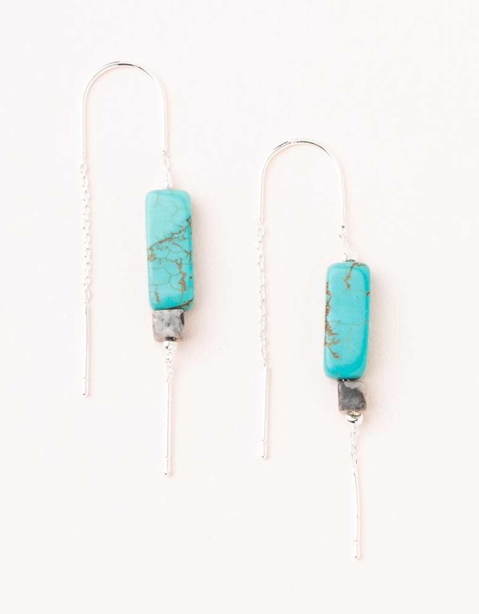 Scout Stone Thread Earrings - Turquoise/Black