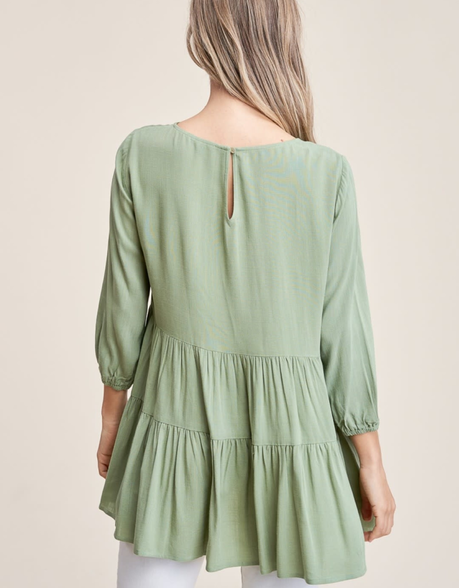 Top with Tiers and 3/4 Sleeves