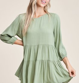 Top with Tiered Layers and 3/4 Sleeves