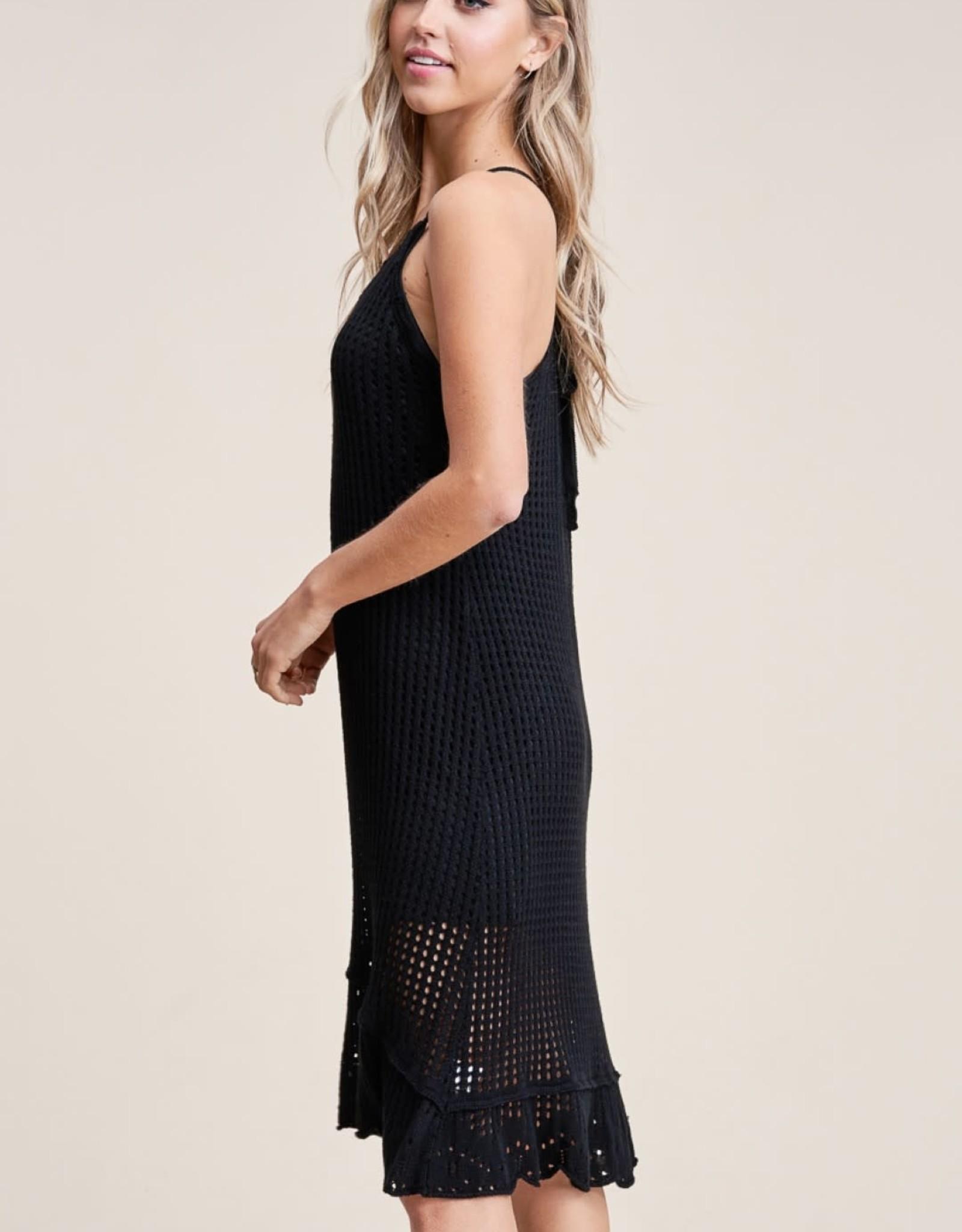 Ruffle Hem Sweater Dress