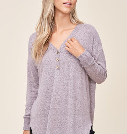 Oversized Knit Henley