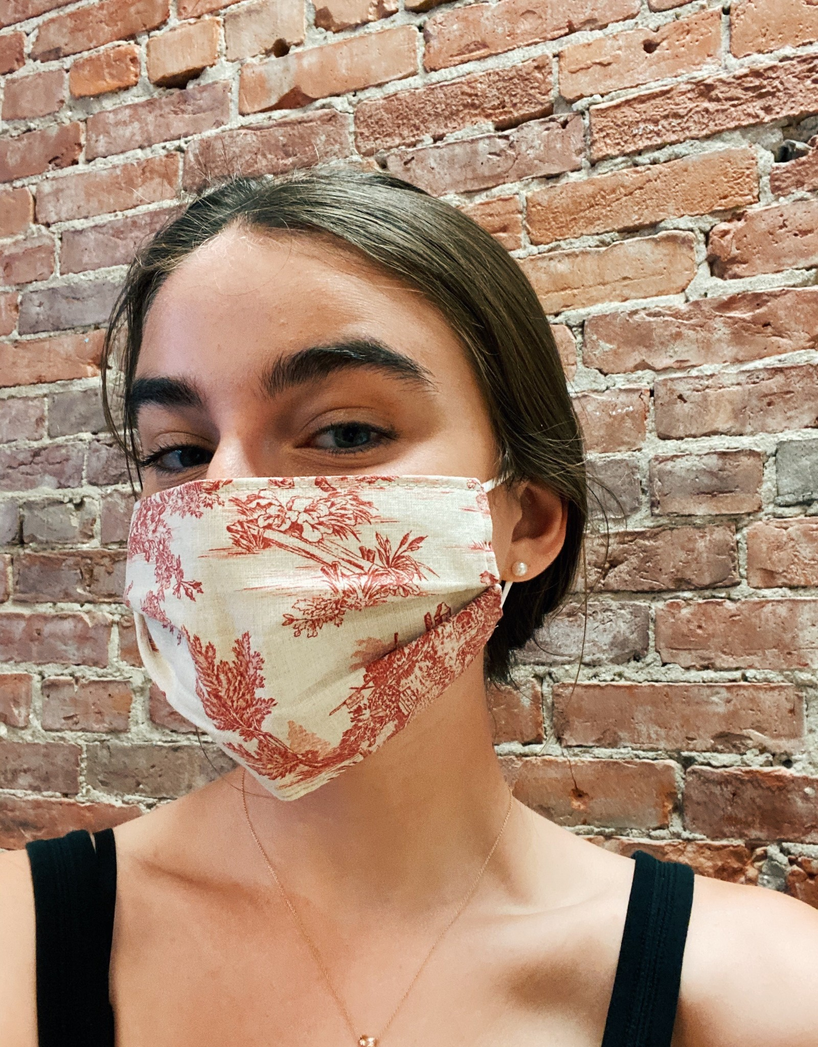 Nora Toile Face Mask in 2 Colors