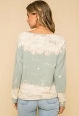 Cozy Sweatshirt with Tie Front