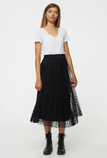 Pleated Layer skirt with Polka Dots