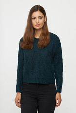 Cropped Cable Front Pullover
