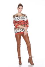 Leopard Colorblock Sweater
