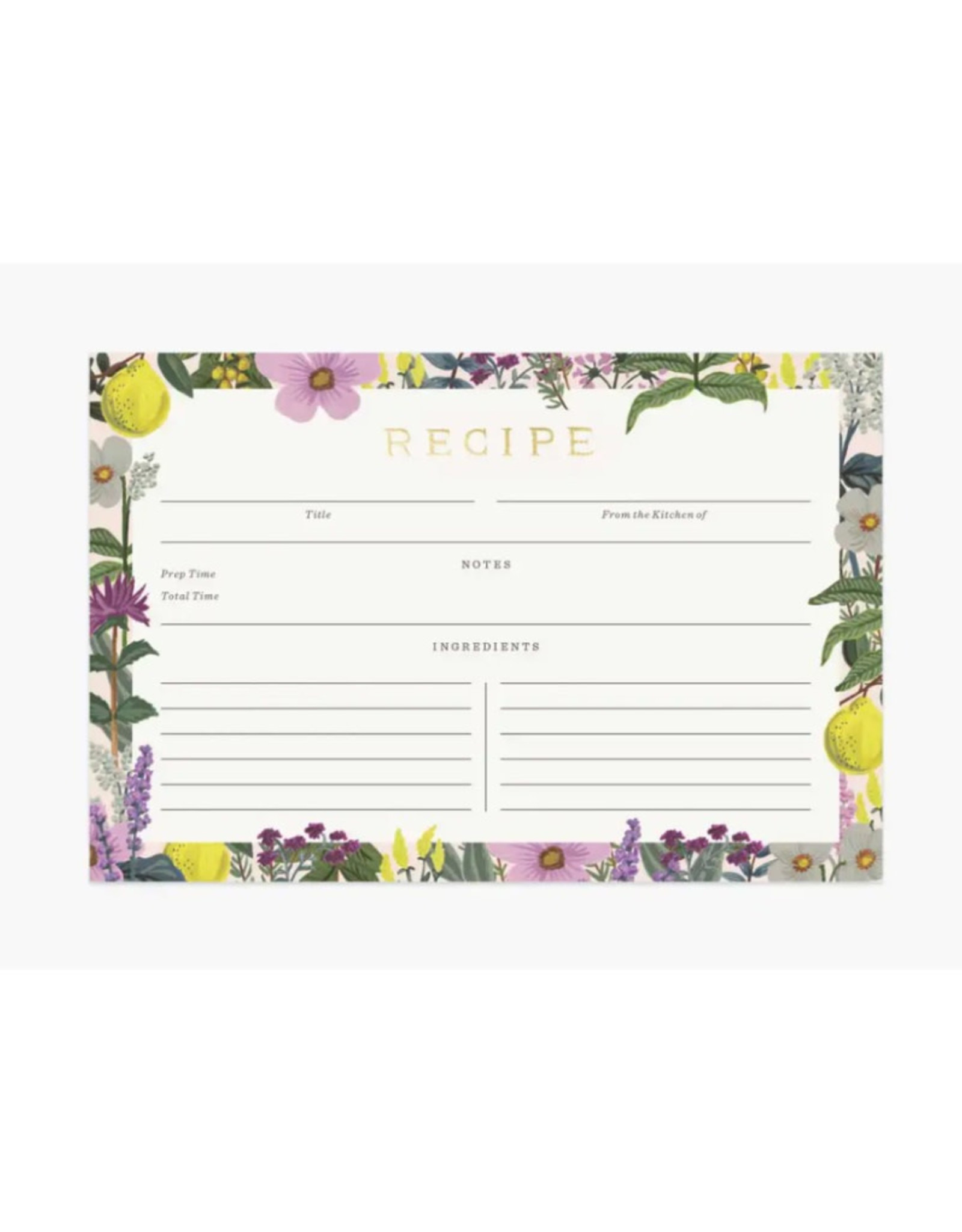 Recipe Cards - Herb Garden