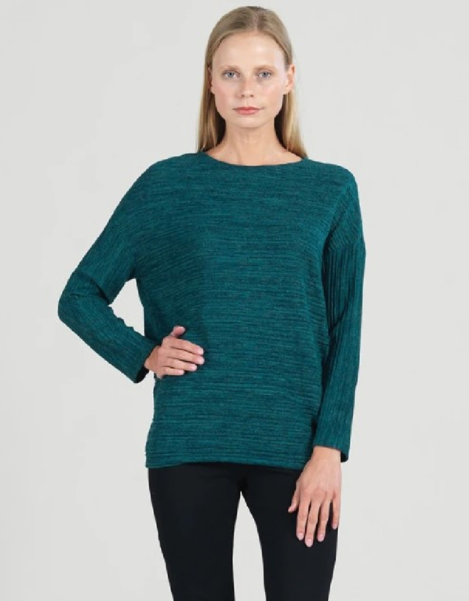 Ribbed Scoop Neck Sweater