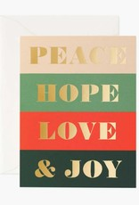 Peace, Hope, Love & Joy Card