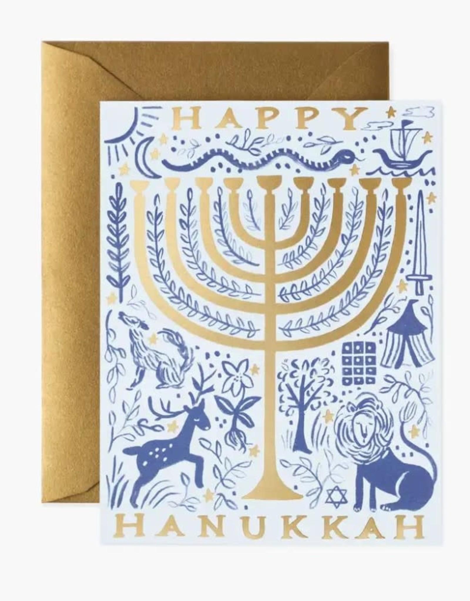 12 Tribes Hanukkah Card