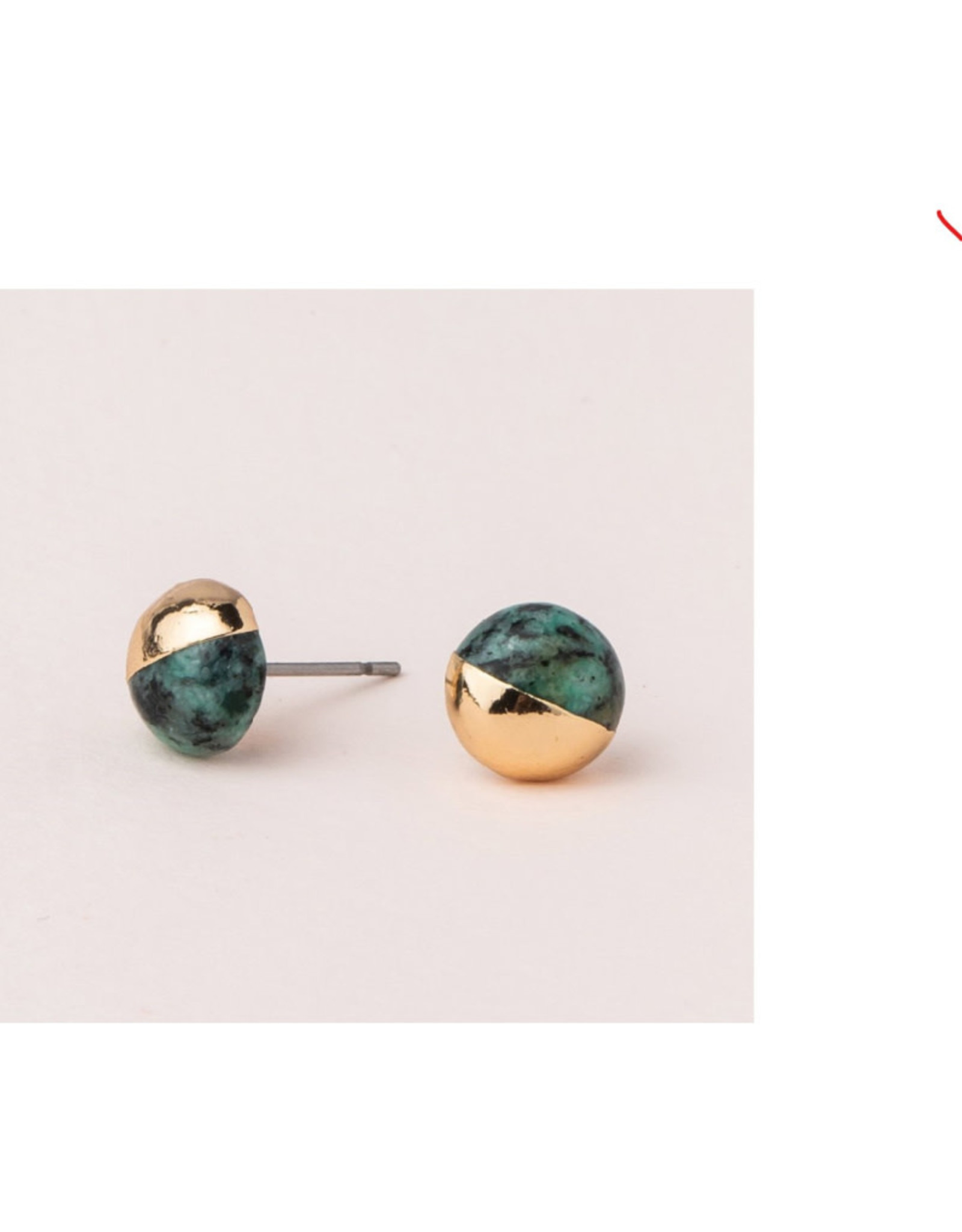 Scout Dipped Studs  African Turquoise/Gold