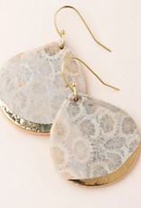 Scout Teardrop Earring Fossil Coral/Gold