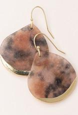 Scout Teardrop Earring Pink Agate/Gold
