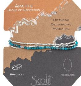 Scout Delicate Wrap Apatite Silver