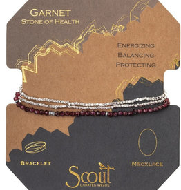 Scout Delicate Wrap Garnet/Silver