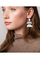 Scout Half Moon Earring Picasso Jasper/Gold
