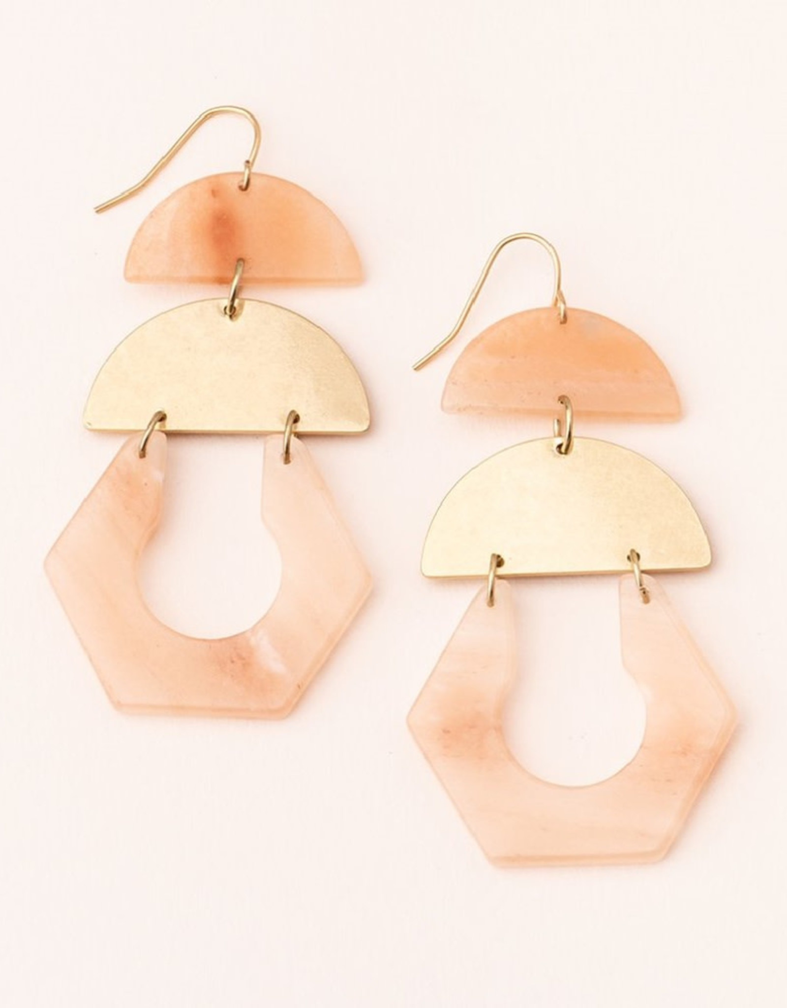 Scout Cutout Earring Sunstone/Gold