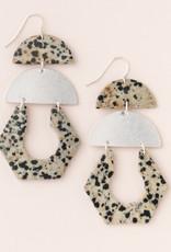 Scout Cutout Earring Dalmatian/Silver