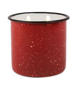 Alpine Enamelware Candle - 9.5 oz. - Red, Pomegranate & Spruce
