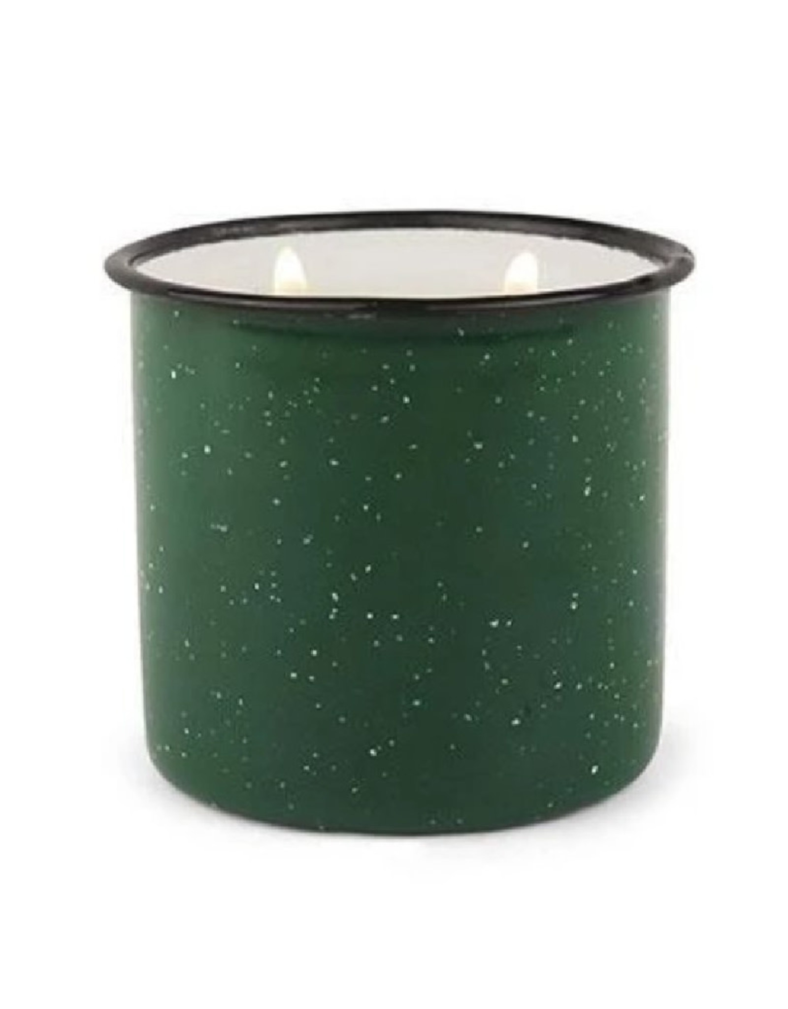 Alpine Enamelware Candle - 9.5 oz. - Green, Evergreen & Embers