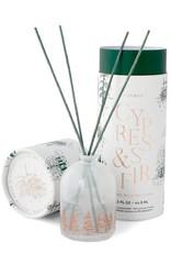 White Milk Glass Mini Diffuser - Cypress & Fir