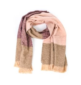 Simple Wide Striped Scarf  - 2 Colors