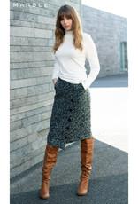 Asymmetrical Button Front Skirt
