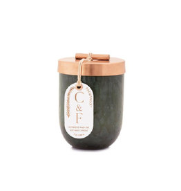 Green Cheena Candle with Copper Lid