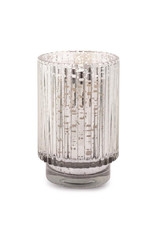 Silver Mercury Ribbed Glass  - Cypress & Fir - CFH0502