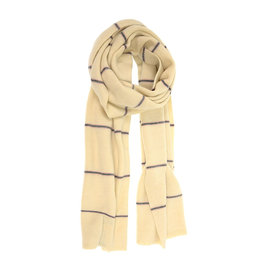 Ivory Striped Scarf