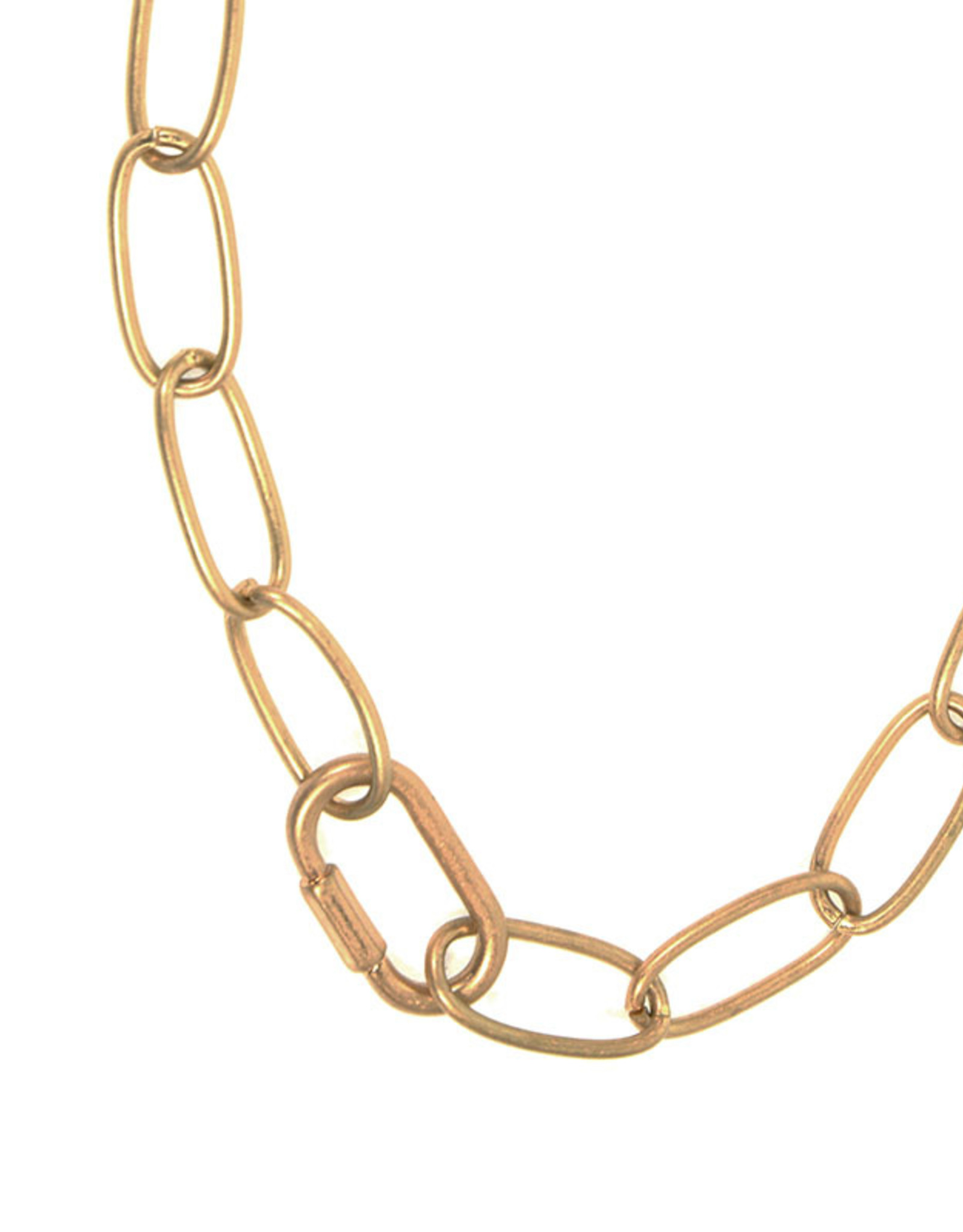 Gold Oval Link Chain Necklace
