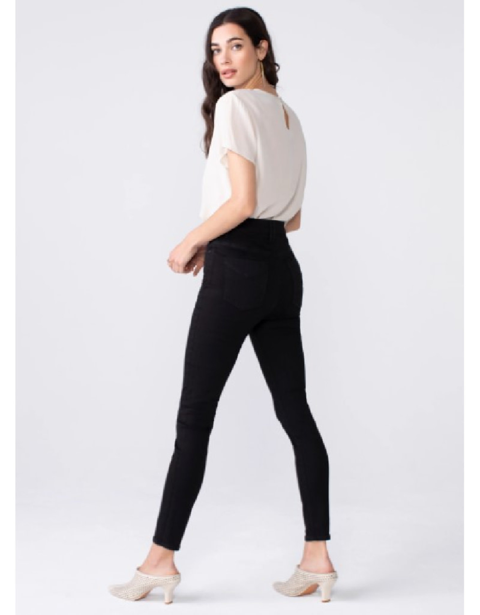 Ella High Rise Skinny Jean with Button Fly