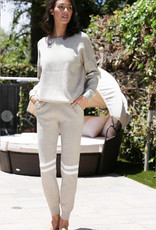 Knit Pants with Knee Stripe Detail
