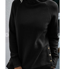 Side Button Hoodie