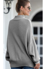 Oversize Mock Neck Sweater
