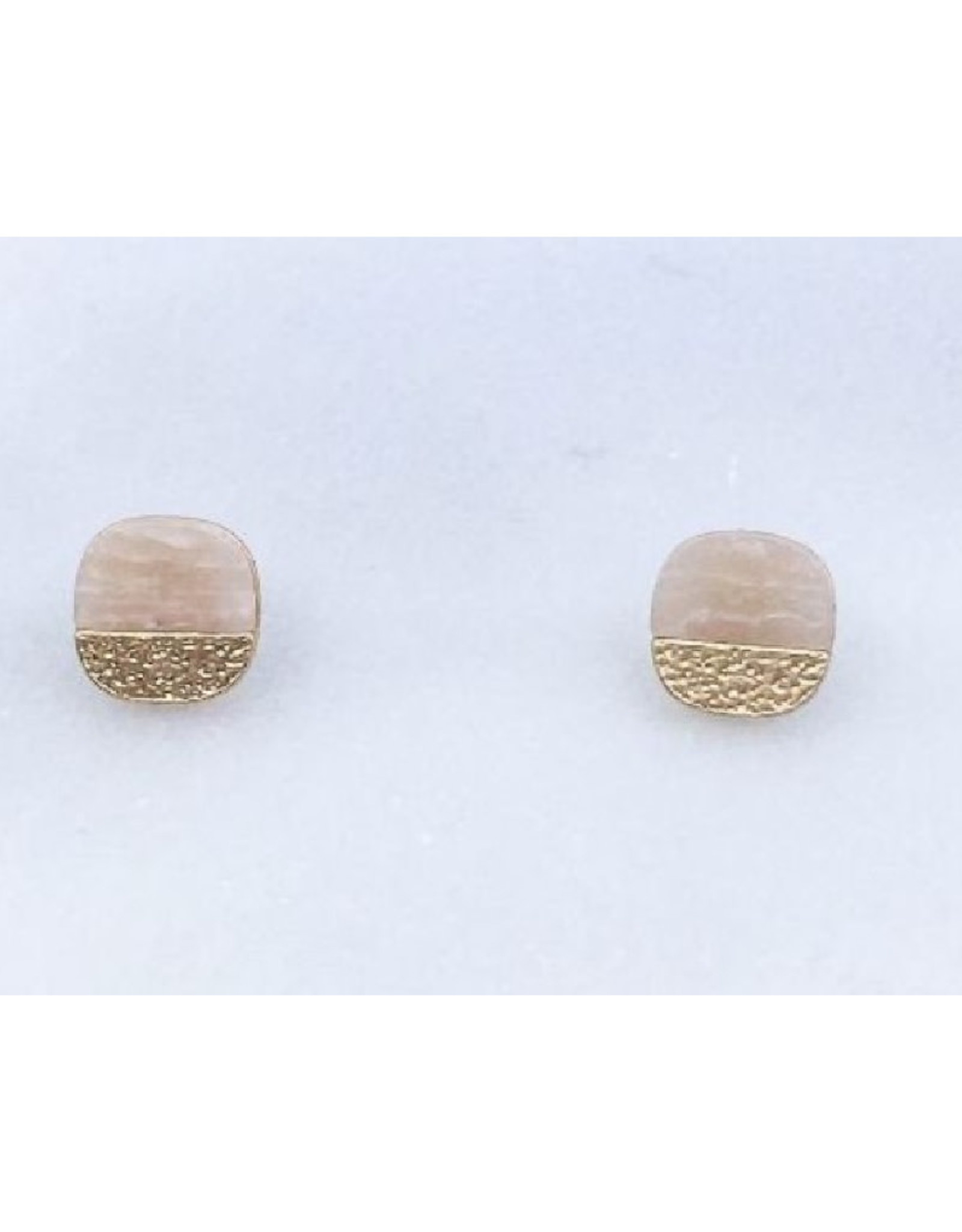 Pink Stone Earrings