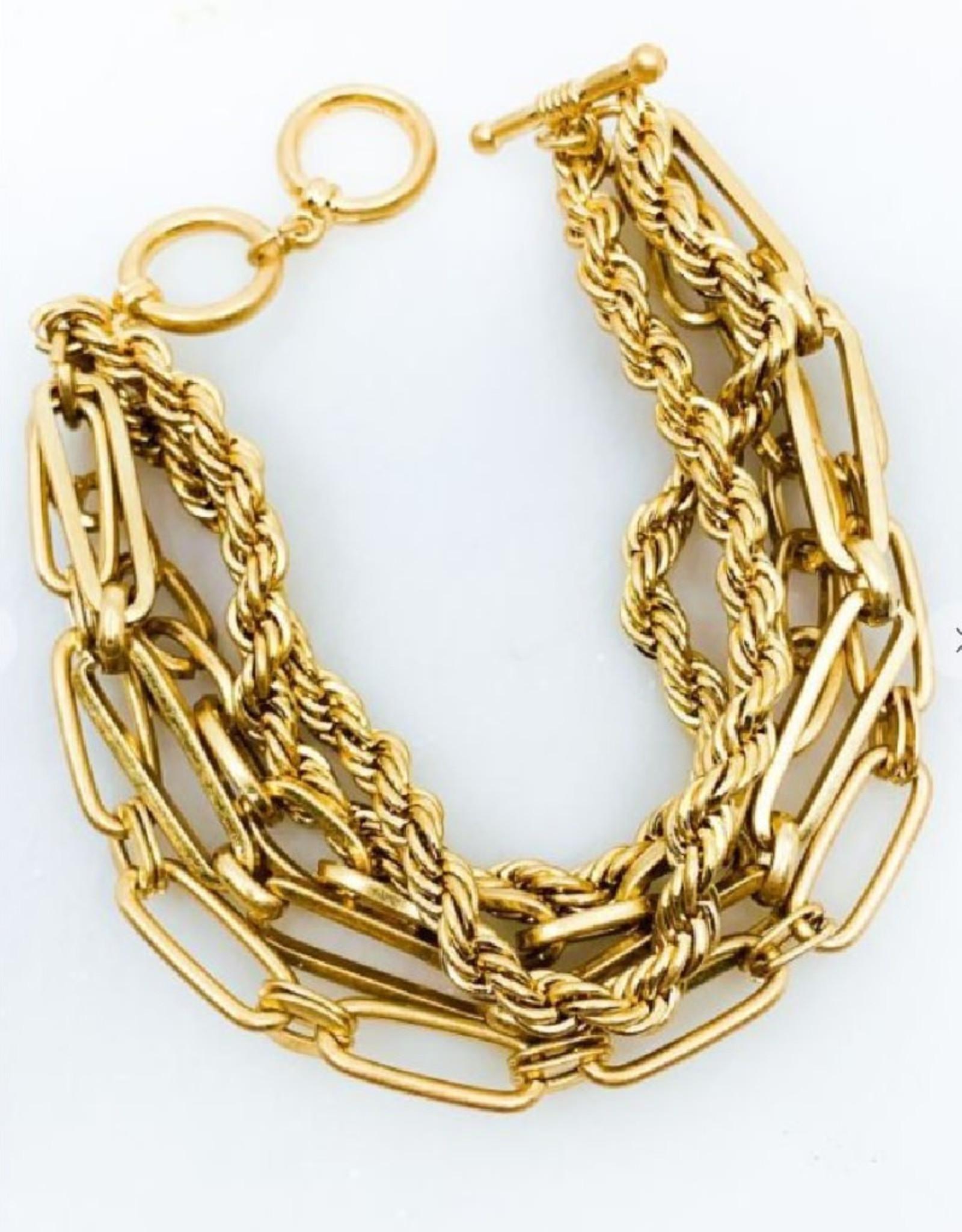 Multi Chain Toggle Bracelet