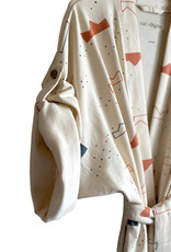 Cozy Robe - Abstract Crown Print
