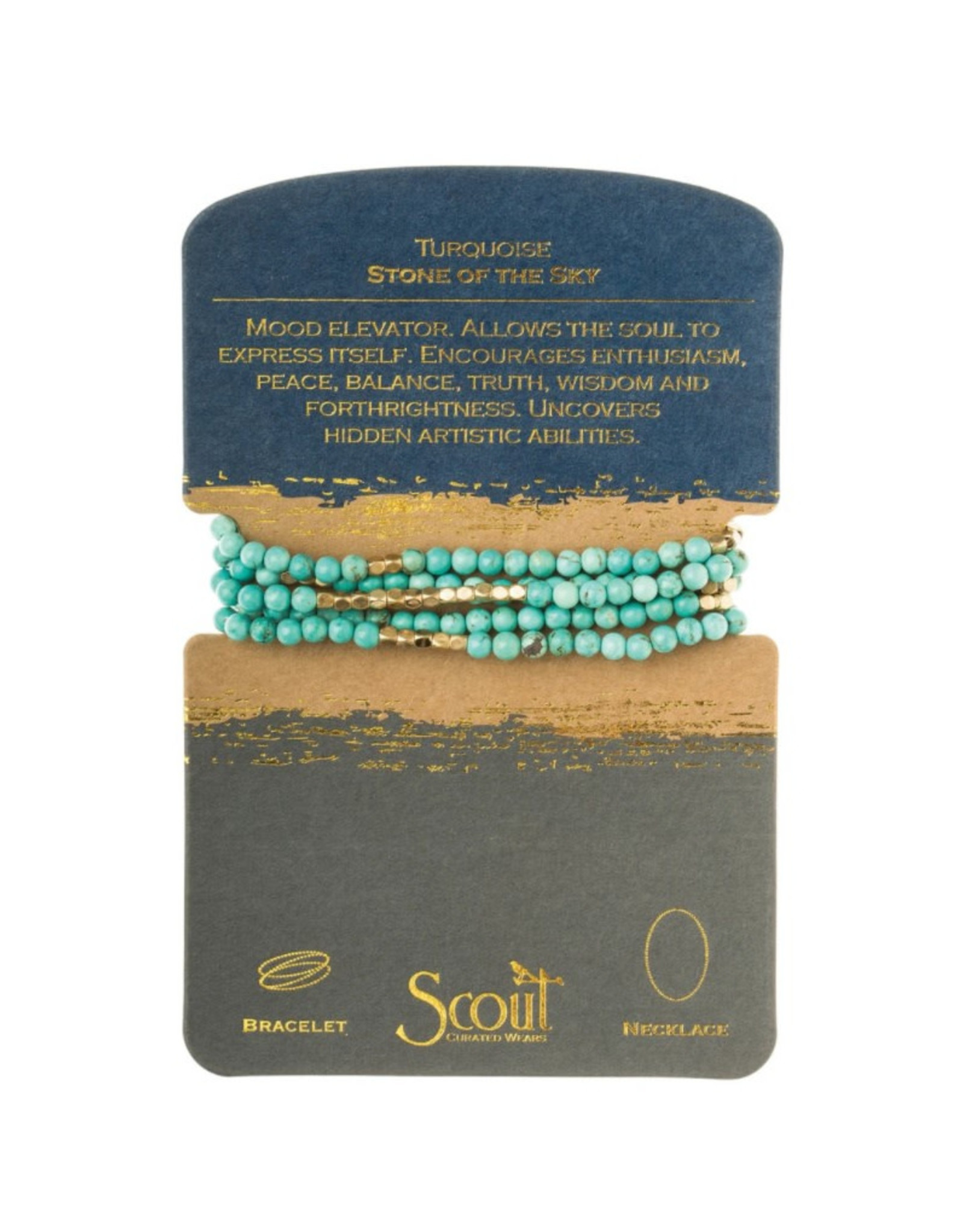 Scout Wrap Turquoise/Gold