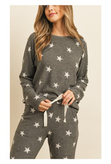 Brushed Star Jogger Top
