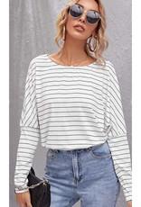 Dolman Long Sleeve Stripe Top