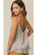 Silky V Neck Lace Cami