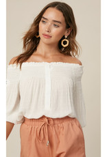 Dotted Swiss Off-Shoulder Top