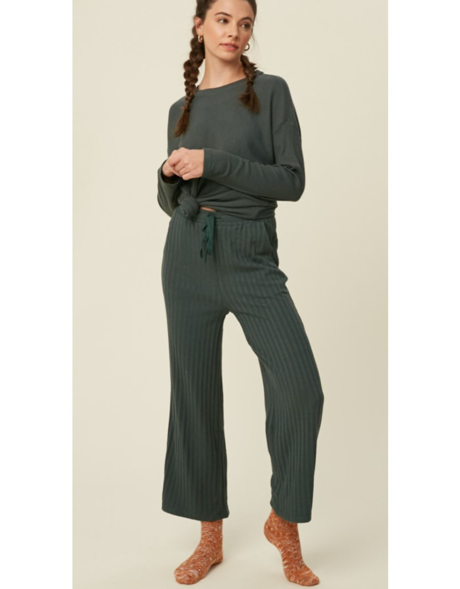Ribbed Knit Lounge Top